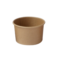 Kraft paper cup for hot and cold food 90ml Ø74mm  H45mm