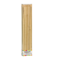 Flat bamboo BBQ skewer  9mm H350mm