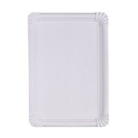 White rectangular cardboard plate  330x230mm