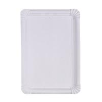 White rectangular cardboard plate  330x230mm