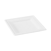 White square sugarcane fibre plate  180x180mm H15mm