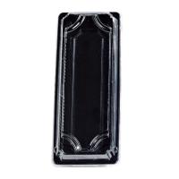 Barquette sushi plastique PS noir avec couvercle PET transparent Suky  225x95mm H40mm