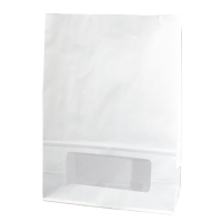 White paper bloomer bag with window 0ml   H220mm