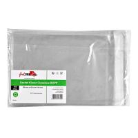"Classic transparent resealable BOPP ""Klever"" bag  200x150mm H40mm"