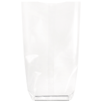 Biodegradable transparent bag with cardboard bottom  140 H305mm