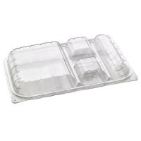 Caja lunch PET 4 compartimentos  330x210mm H50mm