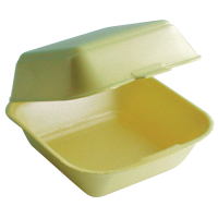 Yellow EPS clamshell  130x132mm H68mm