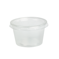 Clear round PP plastic portion cup 110ml Ø70mm  H43mm