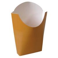 Kraft/brown cardboard fries pouch 500ml 55x120mm H152mm