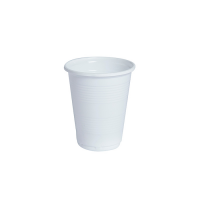 Vaso blanco PP 200ml Ø70mm  H82mm