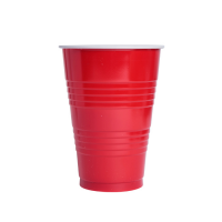 "Red PS ""Pong"" cup 450ml Ø90mm  H125mm"