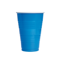 "Blue PS ""Pong"" cup 450ml Ø90mm  H125mm"
