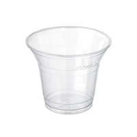 Clear PLA cup 280ml 76mm  H75mm