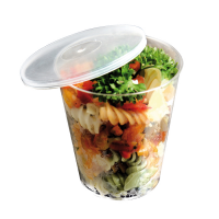 Clear round PS plastic cup 240ml Ø73mm  H82,5mm