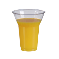 "Clear PET plastic ""Smoothie"" cup 360ml Ø95mm  H112mm"