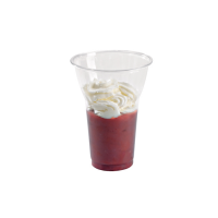 "Clear PET plastic ""Smoothie"" cup 450ml Ø95mm  H130mm"