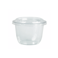 Clear round PET plastic dessert cup 450ml Ø95mm  H102mm