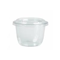Clear round PET plastic dessert cup 300ml Ø95mm  H65mm