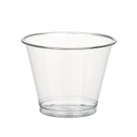 Clear PET plastic cup 270ml Ø92mm  H74mm