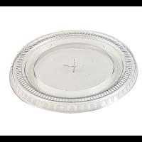 Couvercle PET transparent plat avec trou