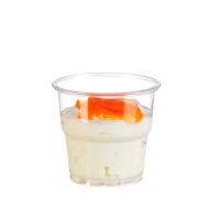 Clear PET plastic cup 80ml 62mm  H72mm