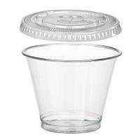 Combo  vaso + tapa plana 270ml Ø92mm  H72mm