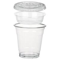 Combo vaso con inserto y Tapa plana 325ml Ø92mm  H92mm