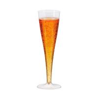 Copa de plástico para champán 170ml Ø50mm  H200mm