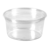 Round transparent PET deli container  500ml Ø117mm  H78mm