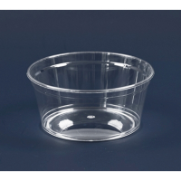 """""""Cristal"""" round clear PS plastic cup 270ml Ø112mm  H47mm"""