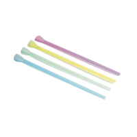 Assorted colours PP plastic spoon-straw  Ø6mm  H200mm