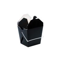 Black square pail box with plastic handle 950ml 100x100mm H110mm