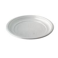 Plato de plástico blanco.  Ø200mm