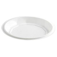 Plato de plástico blanco.  Ø120mm