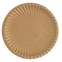 Plato redondo kraft de carton laminado  Ø178mm