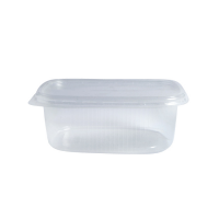Clear rectangular PP plastic box 125ml 110x80mm H25mm