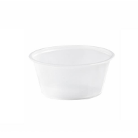 Translucent round PS plastic portion cup 80ml Ø74mm  H32mm