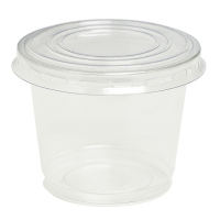 Clear round PET plastic dessert cup 200ml Ø80mm  H65mm