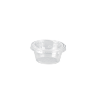 Clear round PET plastic portion cup 60ml Ø62mm  H32mm