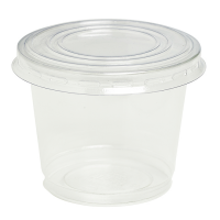 Clear PET plastic cup with dome lid with hole 200ml Ø74mm  H85mm
