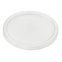 """Bodega"" Clear PP plastic flat lid  Ø50mm"