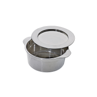 Round silver PS plastic mini dish with lid 90ml 70mm  H34mm