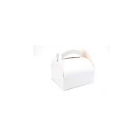 Caja pastelera blanca con ansa  200x200mm H170mm