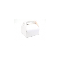 Caja pastelera blanca con ansa  180x180mm H170mm