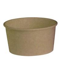 """Buckaty"" round kraft cardboard salad bowl 900ml Ø150mm  H75mm"