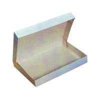 Boîte plateau lunch carton blanc  320x420mm H60mm