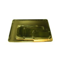 Double sided black inside/gold outside cardboard tray  280x420mm