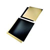 Rectangular double face card gold/black  400x600mm