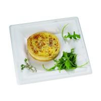 Assiette carrée blanche en pulpe  255x255mm