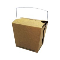Caja pasta de kraft con asas 450ml 95x73mm H90mm